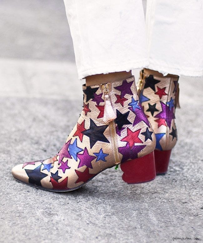 tendenze autunno inverno 2015, stars print trend ankle boots, theladycracy.it, stampe a stella,