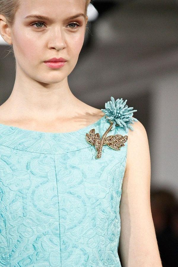 accessori moda autunno inverno 2015, spille oscar de la renta, broches vintage, top fashion blog italia
