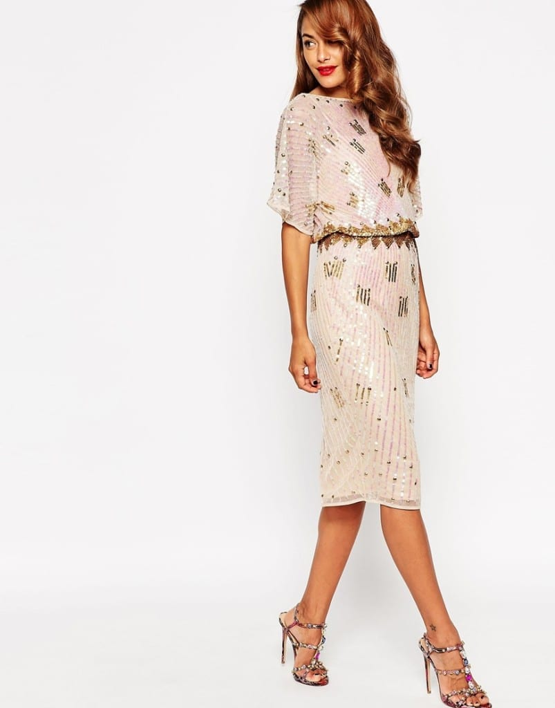 asos abbigliamento, midi kimono dress paillettes, sequined dress asos, theladycracy.it