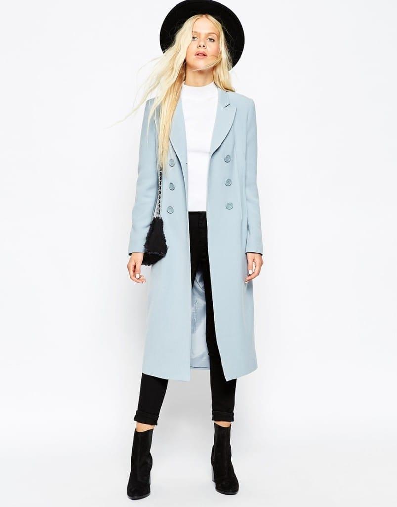 asos abbigliamento, theladycracy.it, elisa bellino, cappotto azzurro ghiaccio fall 2015