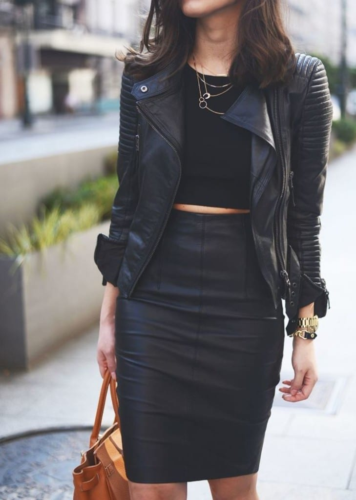 come vestirsi all'aperitivo, pencil skirt leather black, theladycracy.it,fashion blog, fashion blogger italy