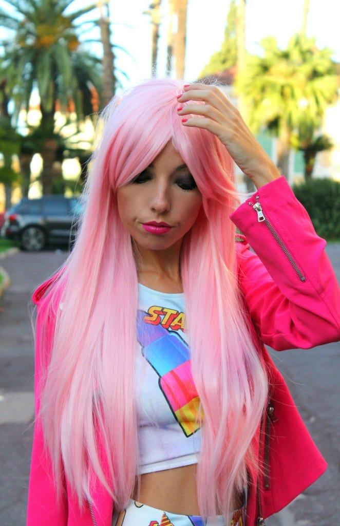 fashion blog, fashion blog italia, fashion blogger italiane, pink hair, capelli rosa, barbie outfit, theladycracy.it, elisa bellino,Chanel a Roma