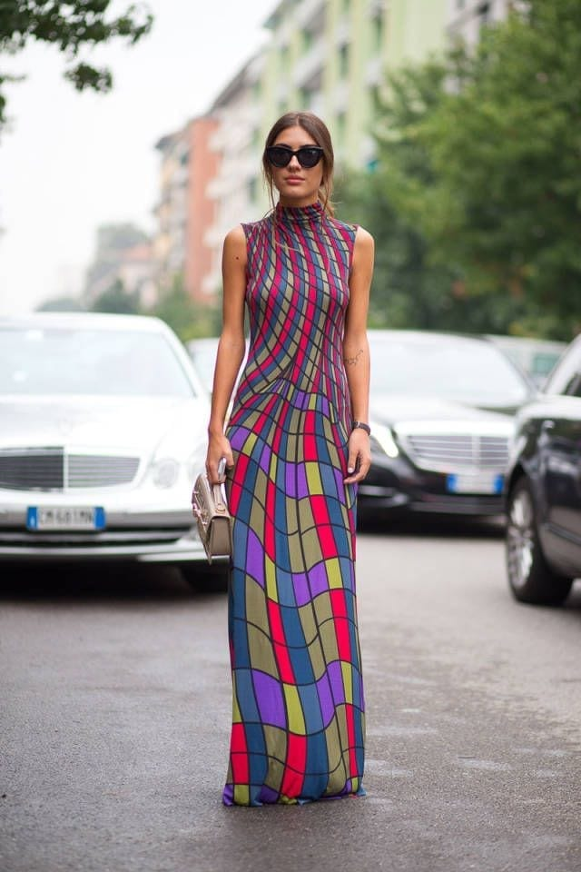 fashion week milano, come vestirsi alla fashion week, come entrare alle sfilate, inviti sfilate milano fashion week, theladycracy.it, elisa bellino, maxi dress, street style milano