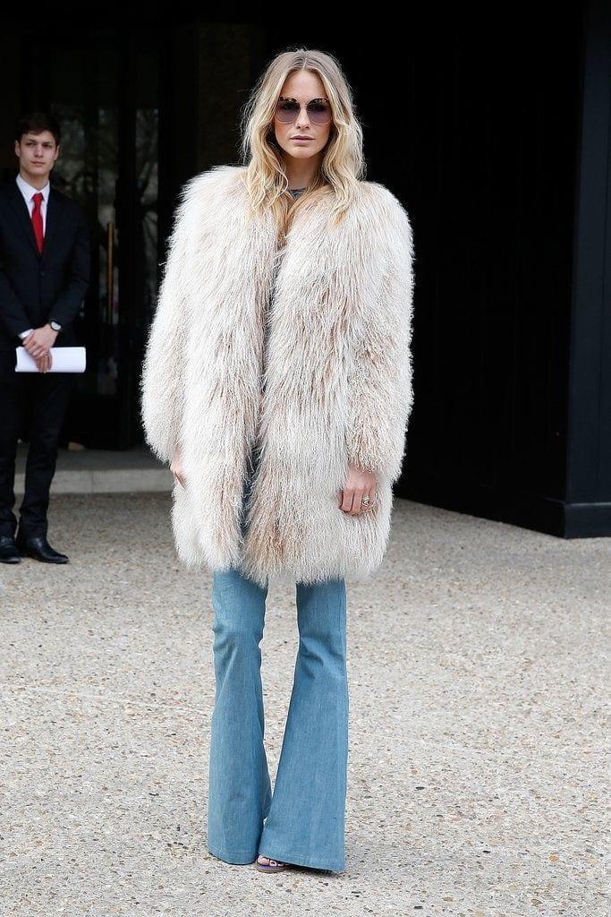 quali jeans vanno di moda questo autunno inverno 2015, theladycracy.it, elisa bellino, fashion blogger italia, maxi fur, maxi pelliccia, come si indossano pantaloni a zampa