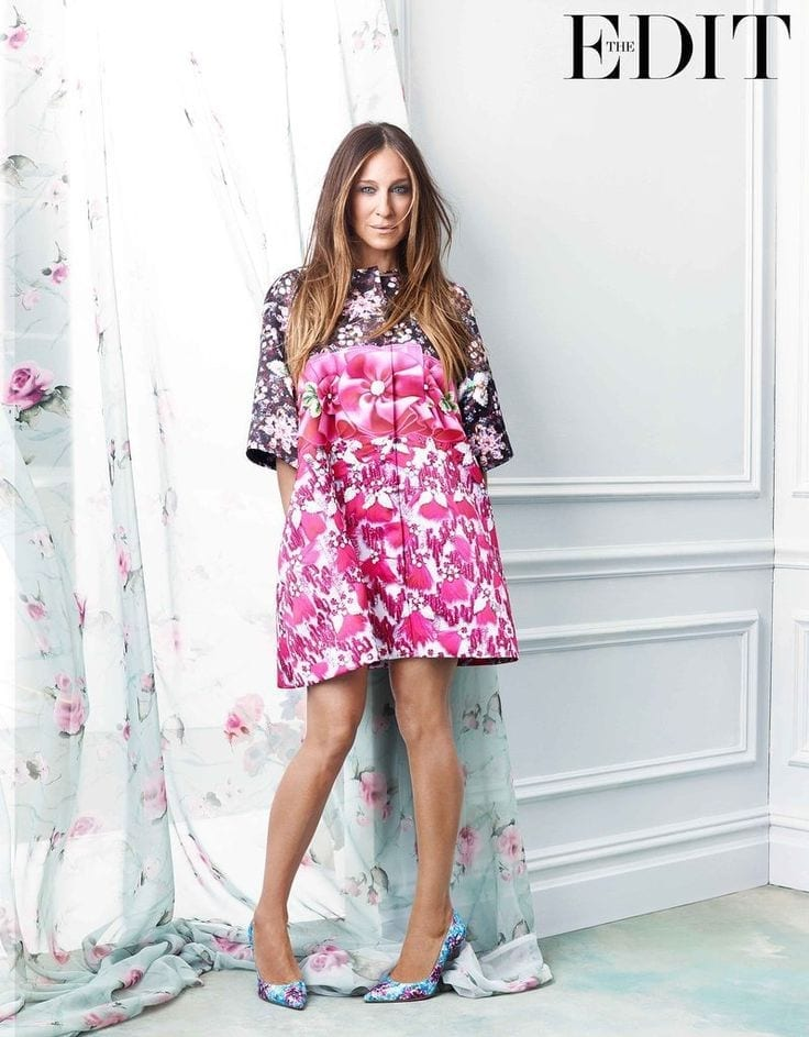 theladycracy.it, elisa bellino, mary katrantzou dress, sarah jessica parker, carrie bradshow