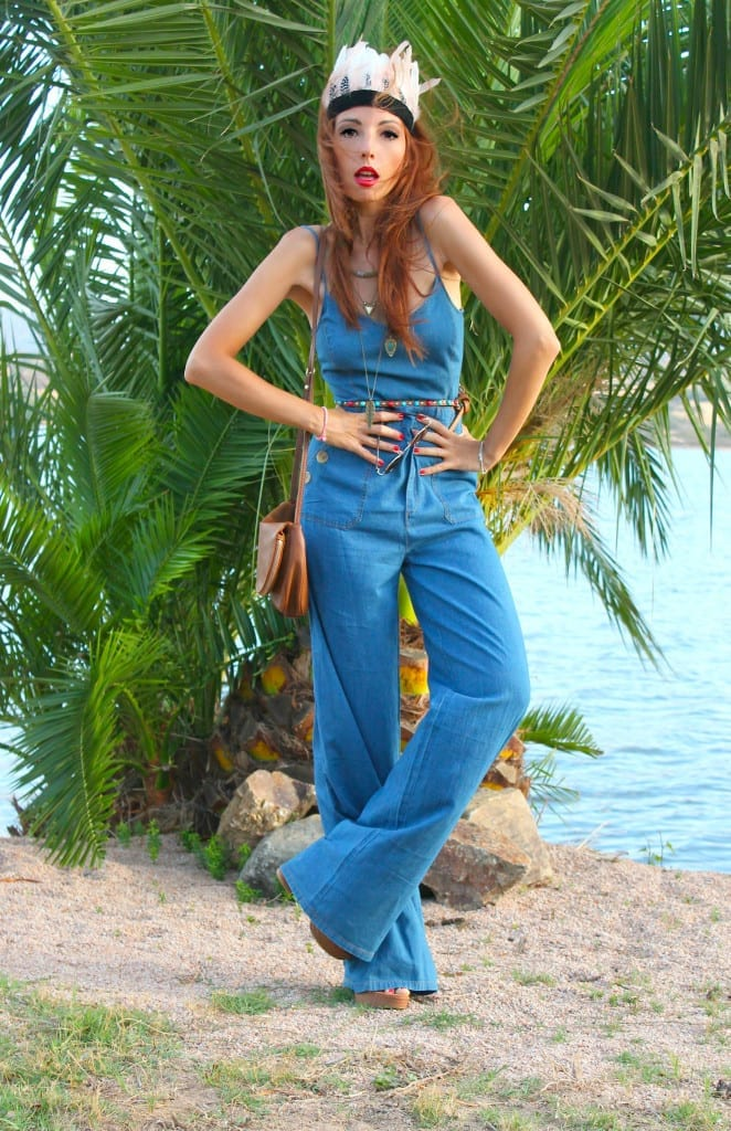 tuta jeans, fashion influcencer italiani, flares pants, come vestirsi anni settanta, anni 70 outfit, sqaw trend fall 2015, theladycracy.it, elisa bellino, best fashion blogger outfit