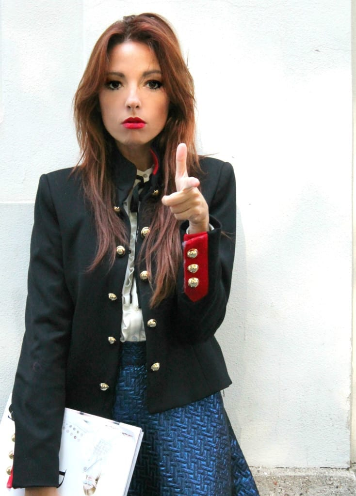 facebook fenomeno, outfit army, blazer chanel, outfit fashion blogger, theladycracy.it,