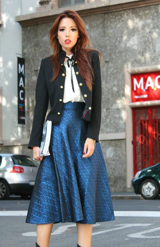 giacca marsina stile chanel, theladycracy.it, facebook fenomeno, outfit army, blazer chanel, outfit fashion blogger, elisa bellino