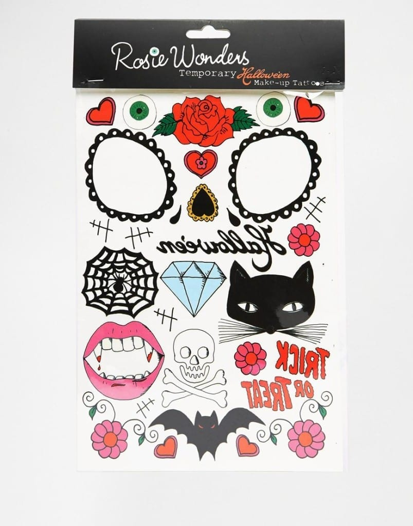 tatuaggi halloween asos, come vestirsi ad halloween,theladycracy.it, elisa bellino, fashion blogger italiane,