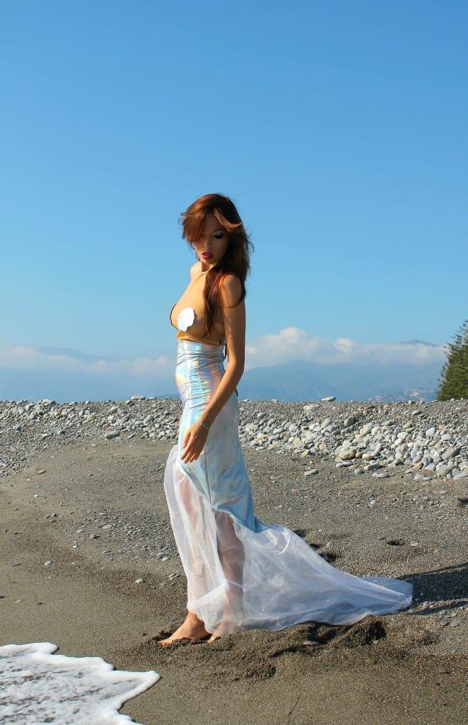 ansia sociale, vestito sirena, mermaid outfit, elisa bellino, fashion blog italia, _