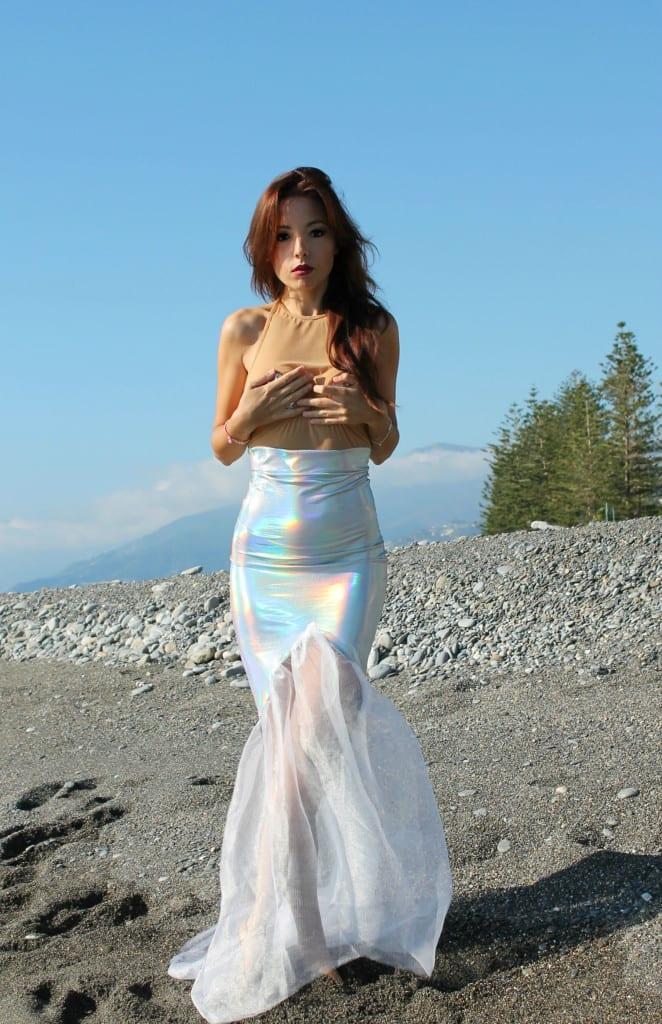 ansia sociale, vestito sirena, mermaid outfit, elisa bellino, fashion blog italia, mermaid