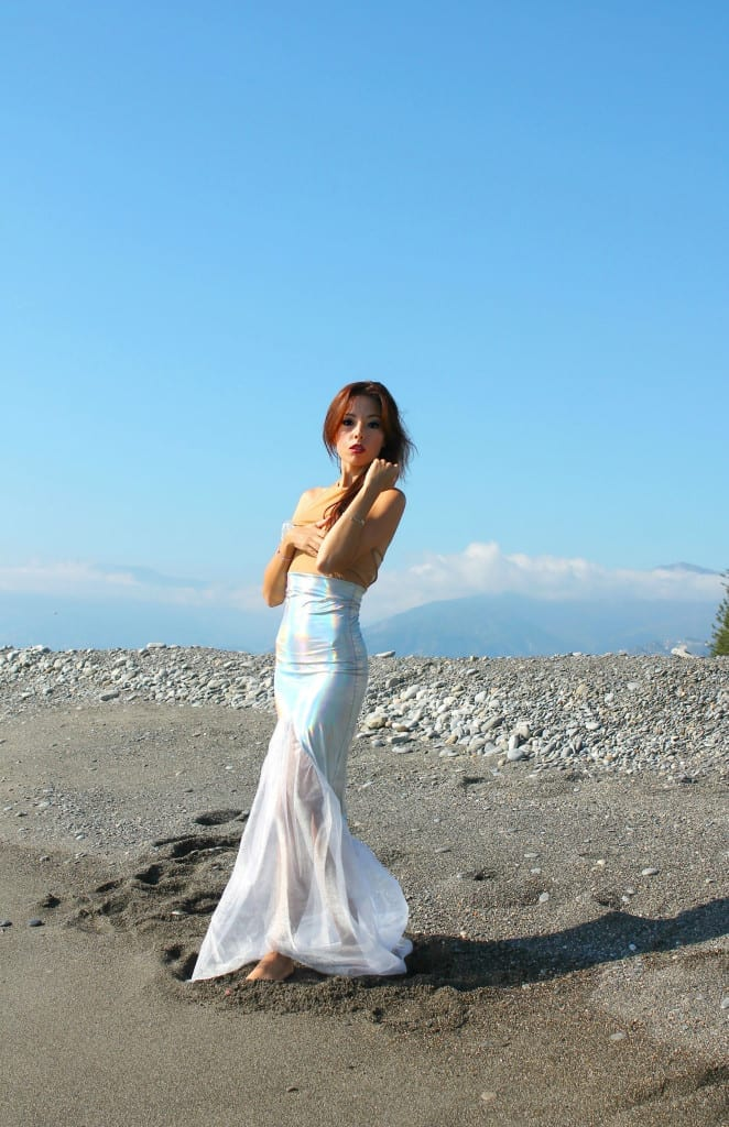 ansia sociale, vestito sirena, mermaid outfit, elisa bellino, fashion blog italia, q