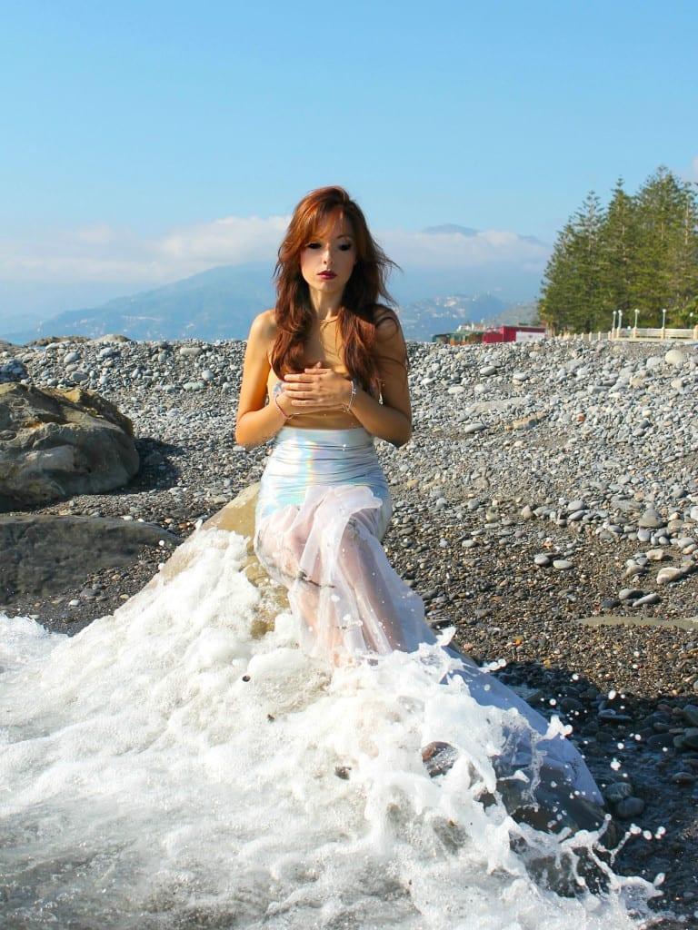 ansia sociale, vestito sirena, mermaid outfit, elisa bellino, fashion blog italia, sirena abito