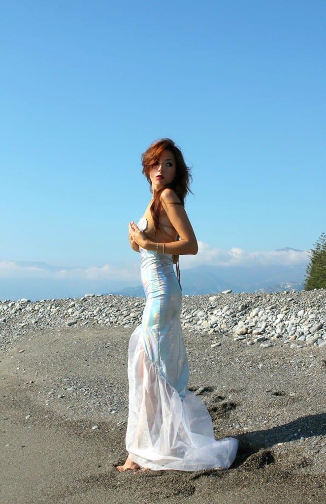 notify, ansia sociale, vestito sirena, mermaid outfit, elisa bellino, fashion blog italia