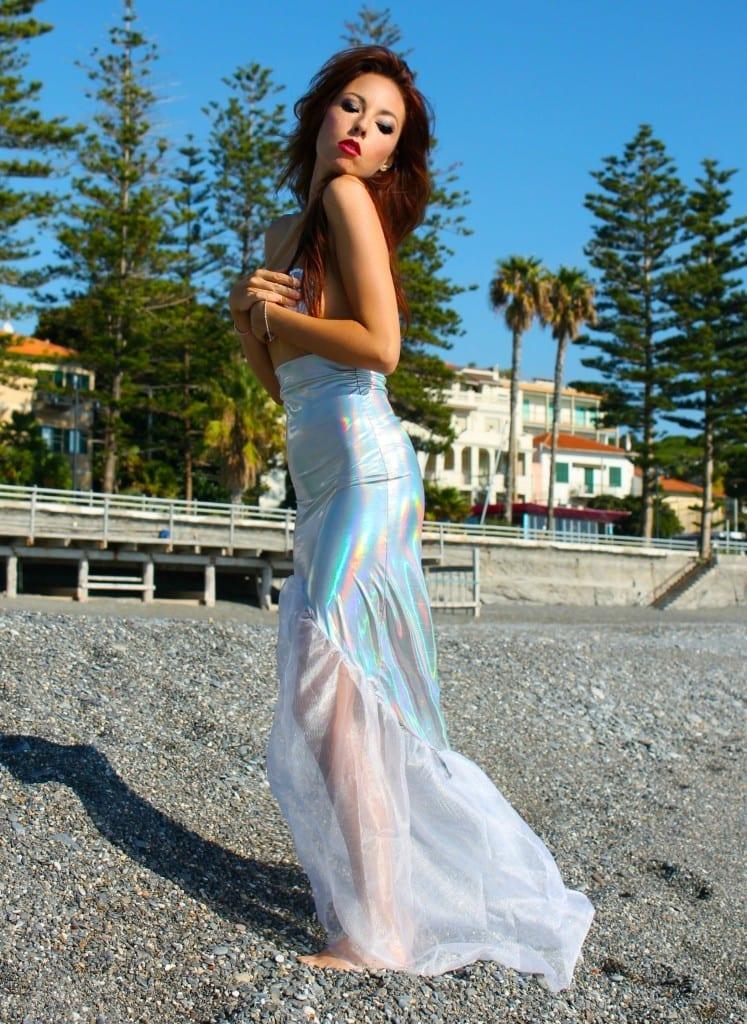 ansia sociale, vestito sirena, mermaid outfit, elisa bellino, fashion blog italia