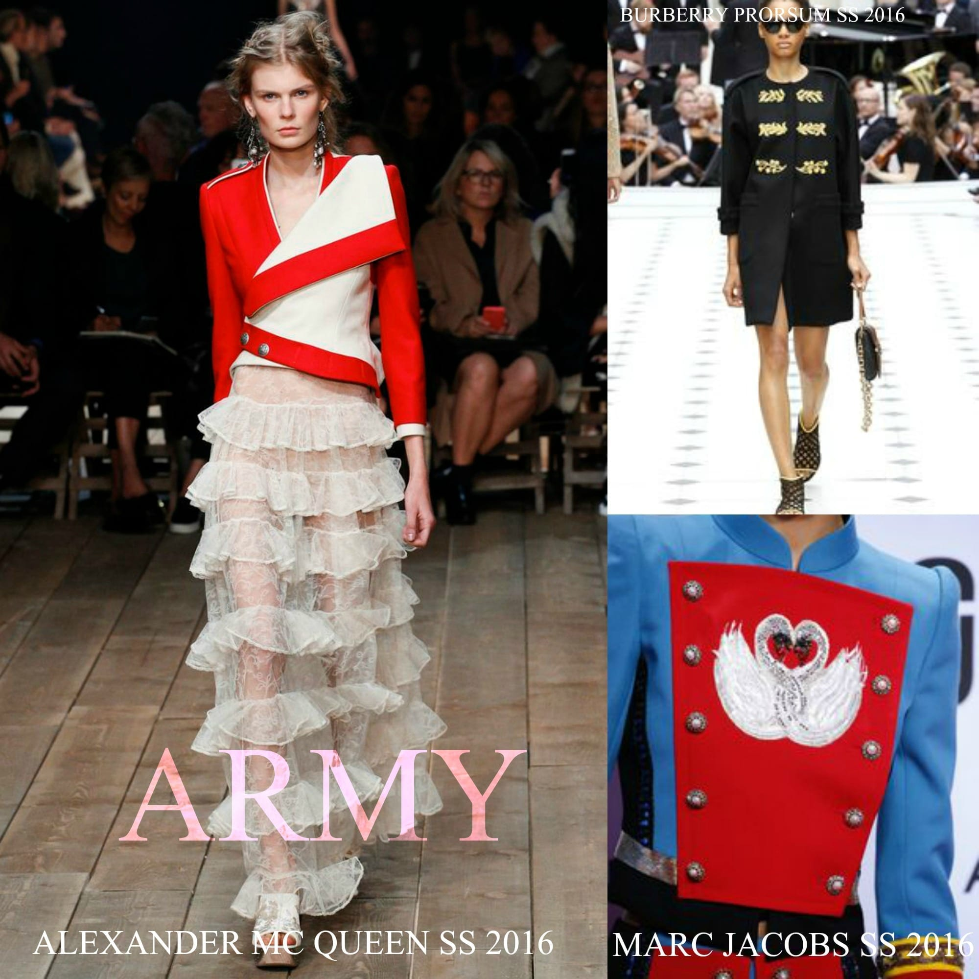Tendenze moda primavera estate 2016 ecco il meglio per il tuo shopping, theladycracy.it, elisa bellino,fashion blogger famose, alexander mc queen ss 2016, marc jacobs ss 2016, army trend ss 2016,