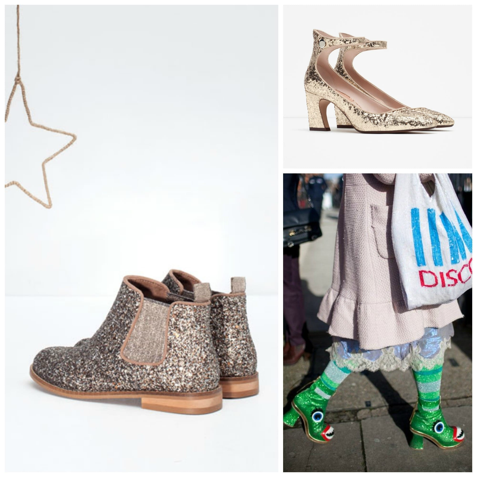 che scarpe vanno di moda, sophia webster shoes, rockstud valentino, glitter scarpe, theladycracy.it, elisa bellino, fashion blog italiane, fashion blog italia, glitter shoes zara, stivaletti zara glitter
