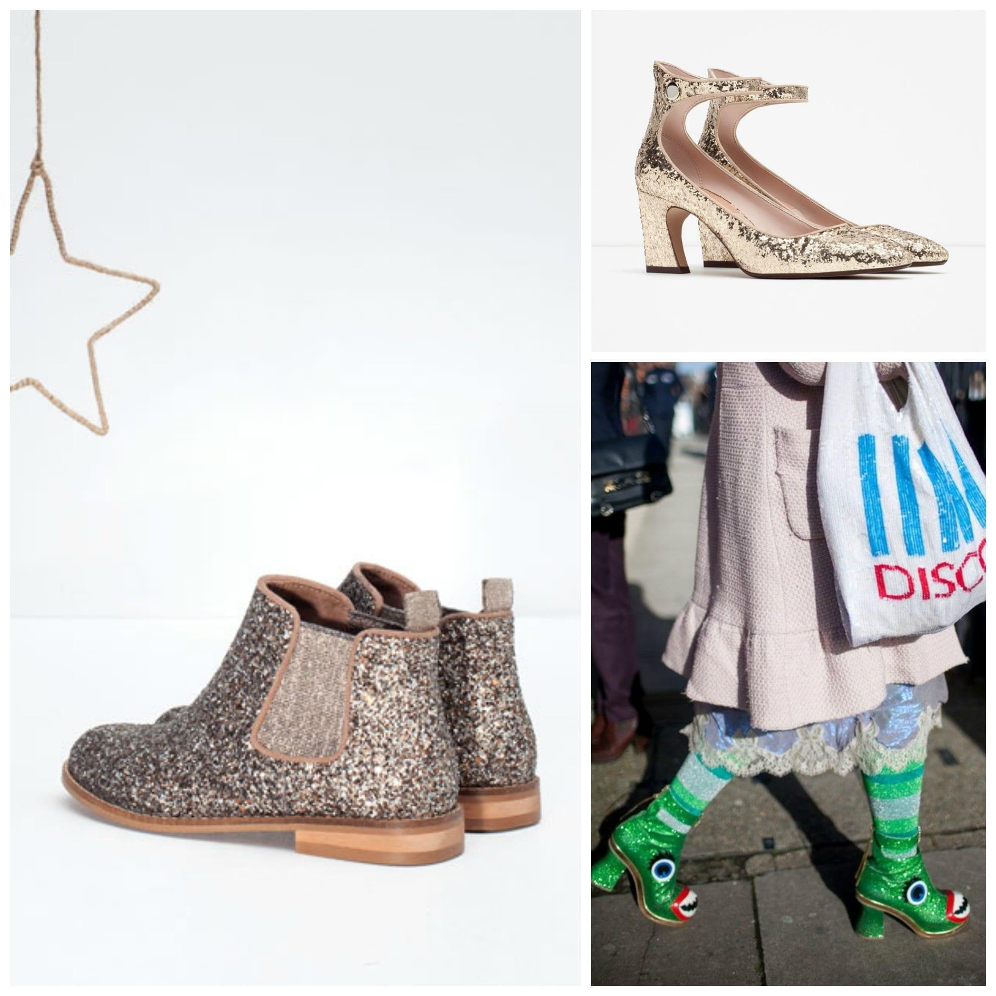 che scarpe vanno di moda, sophia webster shoes, rockstud valentino, glitter scarpe, theladycracy.it, elisa bellino, fashion blog italiane, fashion blog italia, glitter shoes zara, stivaletti zara glitter