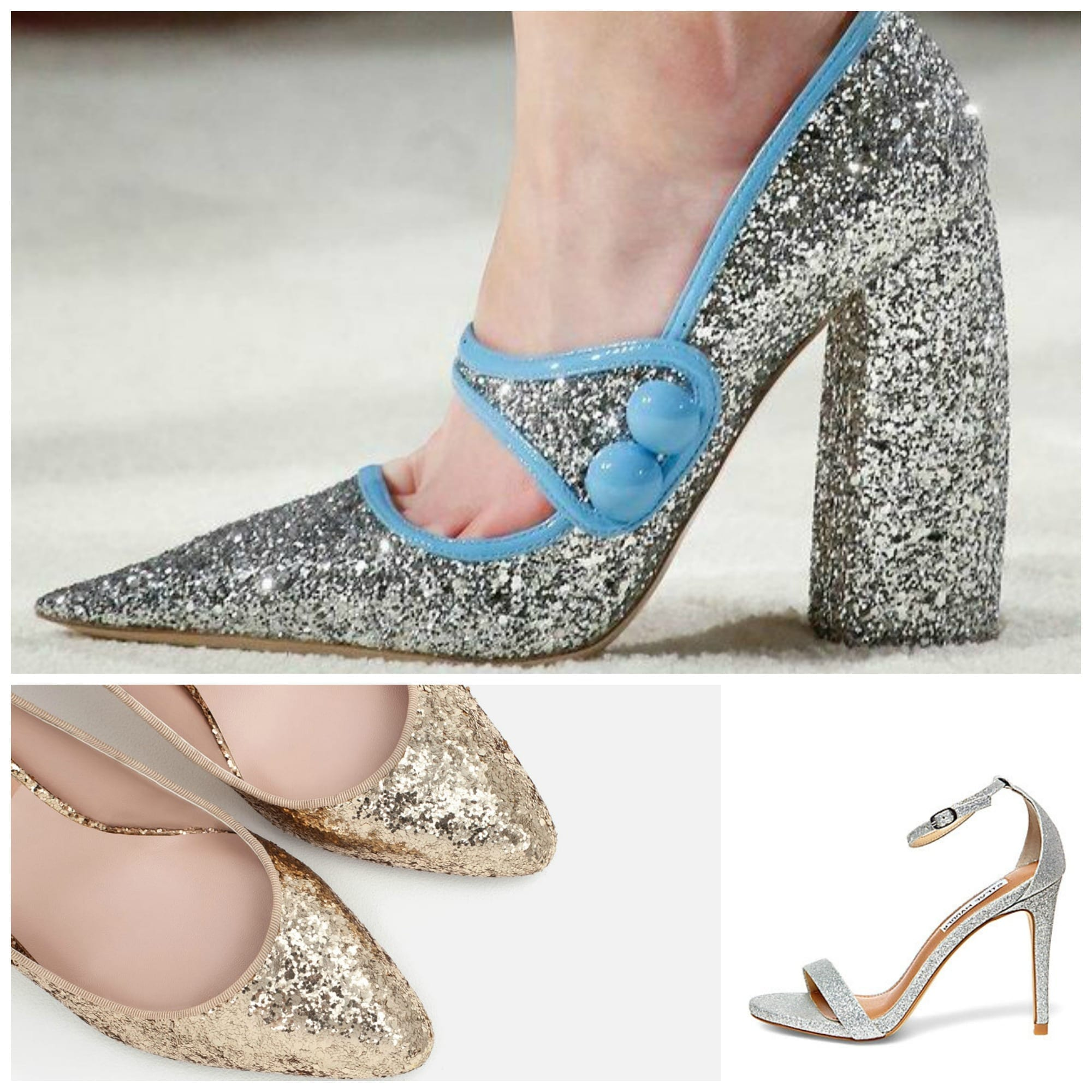 che scarpe vanno di moda, sophia webster shoes, rockstud valentino, glitter scarpe, theladycracy.it, elisa bellino, miu miu glitter shoes, jimmy choo heels