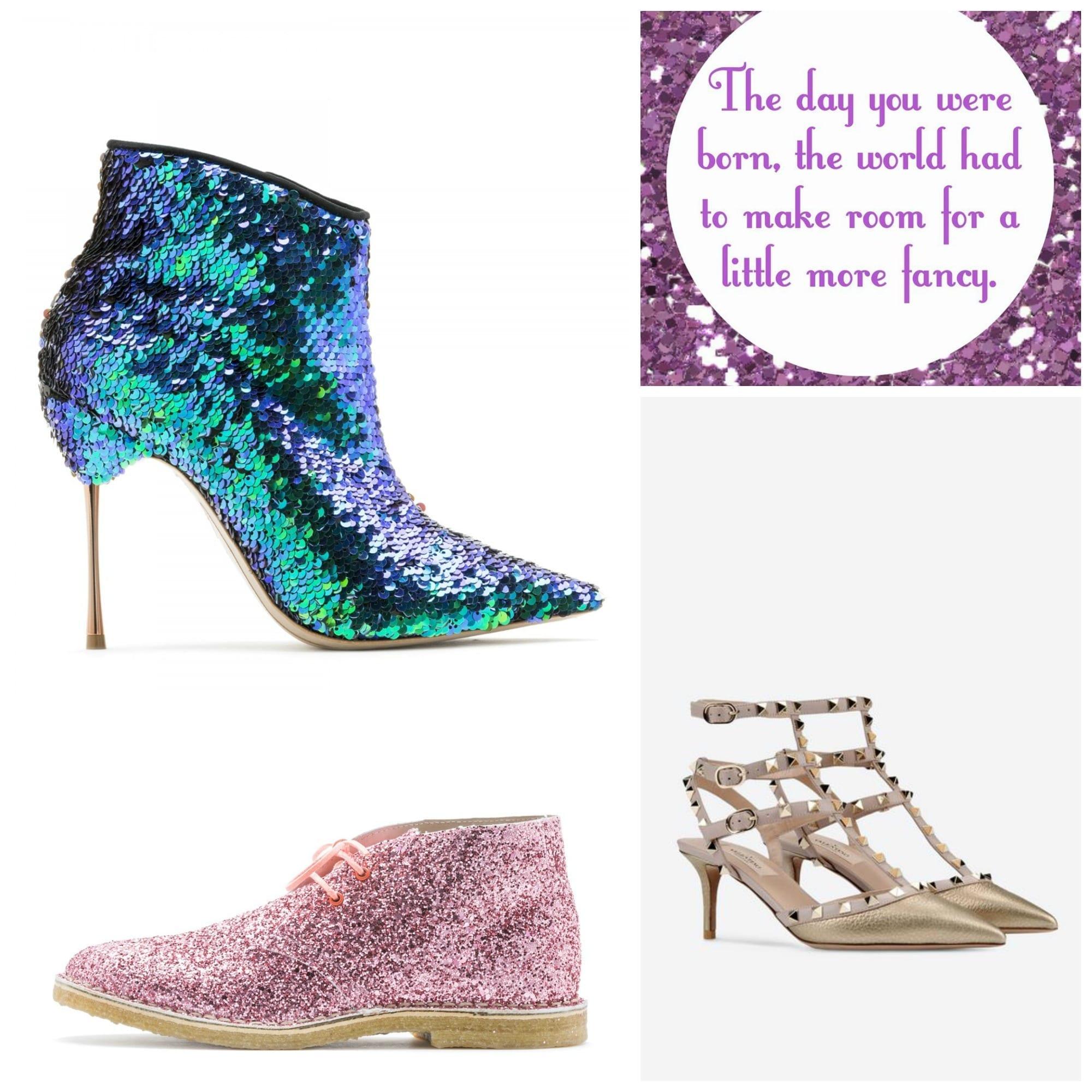 che scarpe vanno di moda, sophia webster shoes, rockstud valentino, glitter scarpe, theladycracy.it, elisa bellino