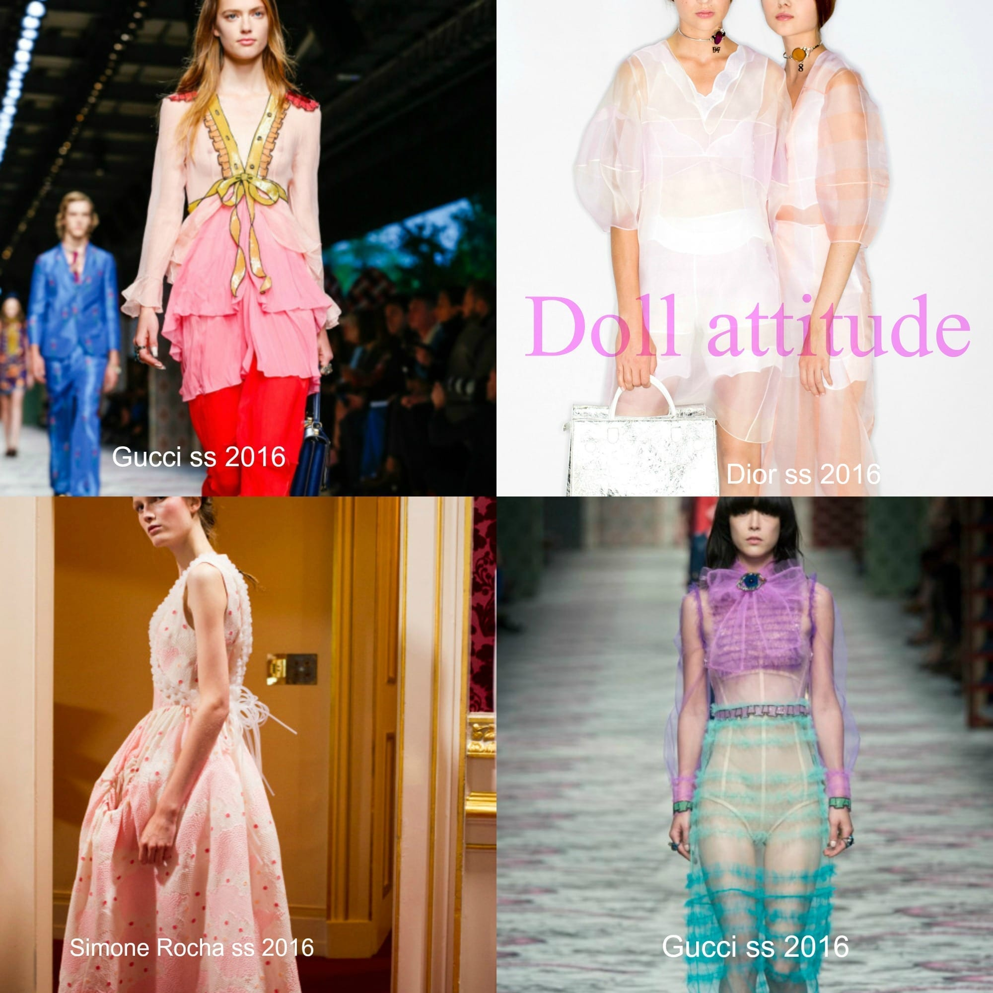 tendenze moda primavera estate 2016, gucci ss 2016, simone rocha, dior ss 2016, elisa bellino, theladycracy.it