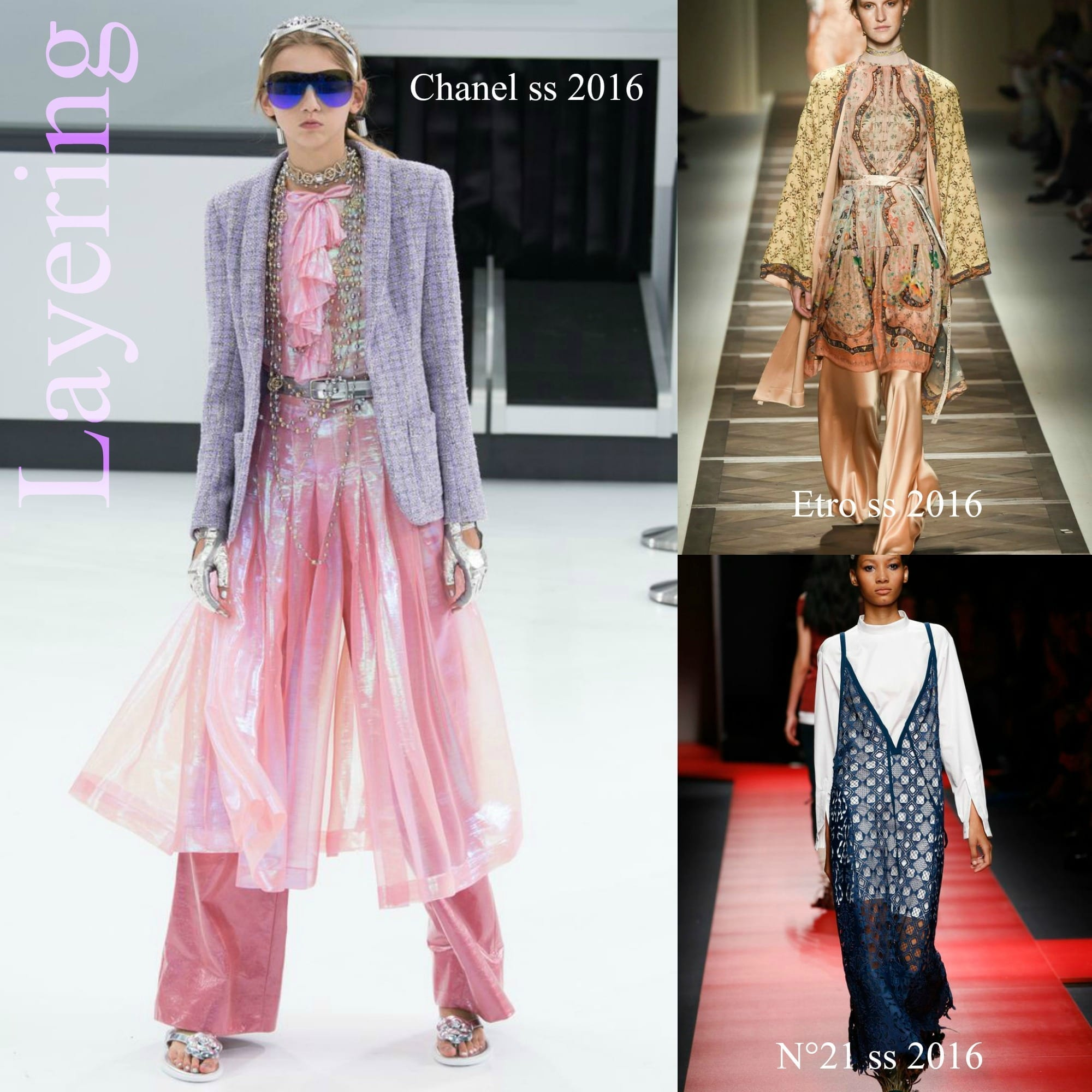 tendenze moda primavera estate, theladycrayc.it, elisa bellino, fashion blogger italiane famose, fashion blog italia, layering trend ss 2016, elisa bellino, chanel ss 2016, etro ss 2016, n 21 ss 2016