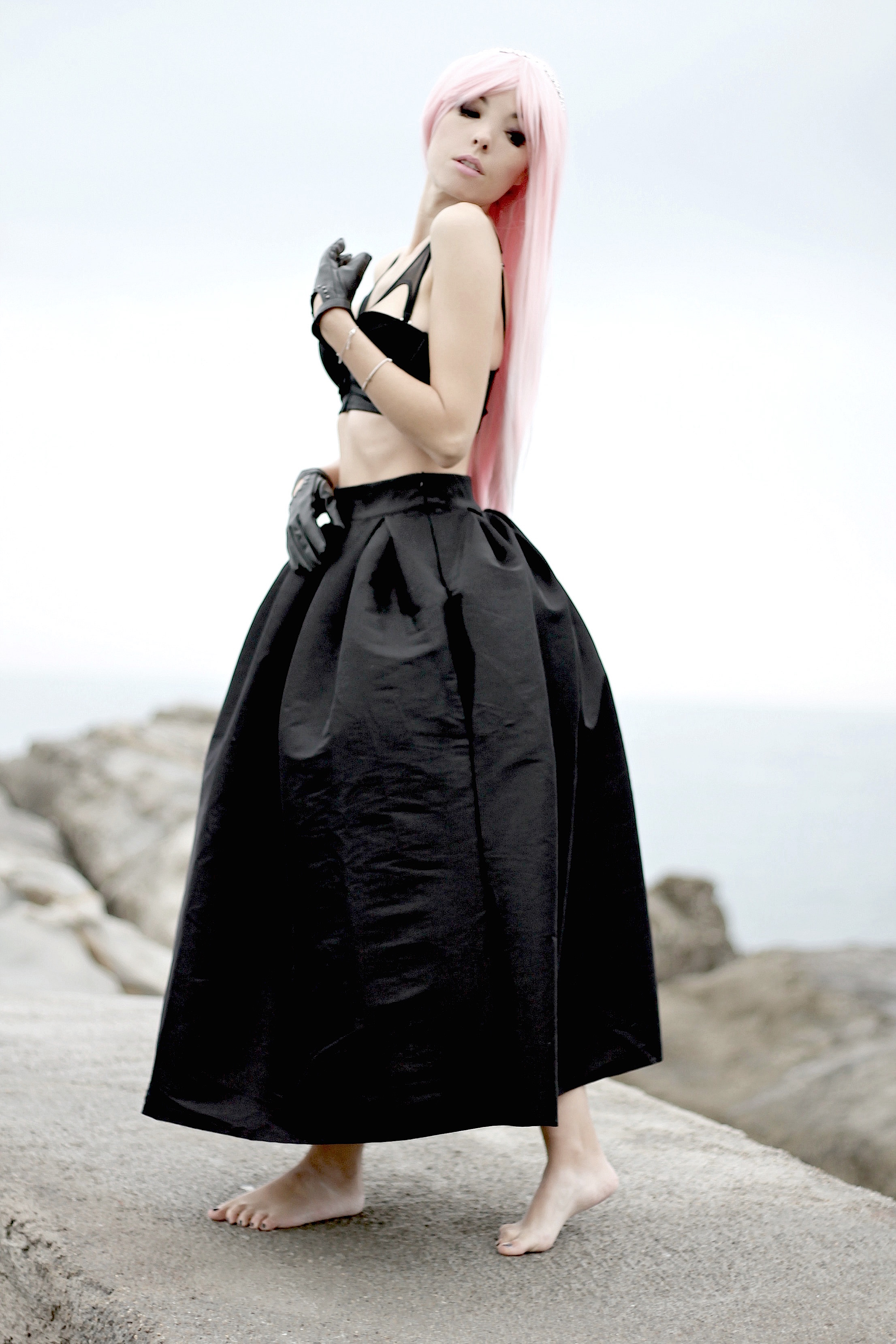 Errori di marketing, theladycracy.it, elisa bellino, black long skirt, rock outfit, manga make up, pink hair look, louis vuitton manga look, manga outfit, fashion blogger italiane famose, fashion blog italia, best fashion blogger outfit, best fashion blog, fashion blogger look