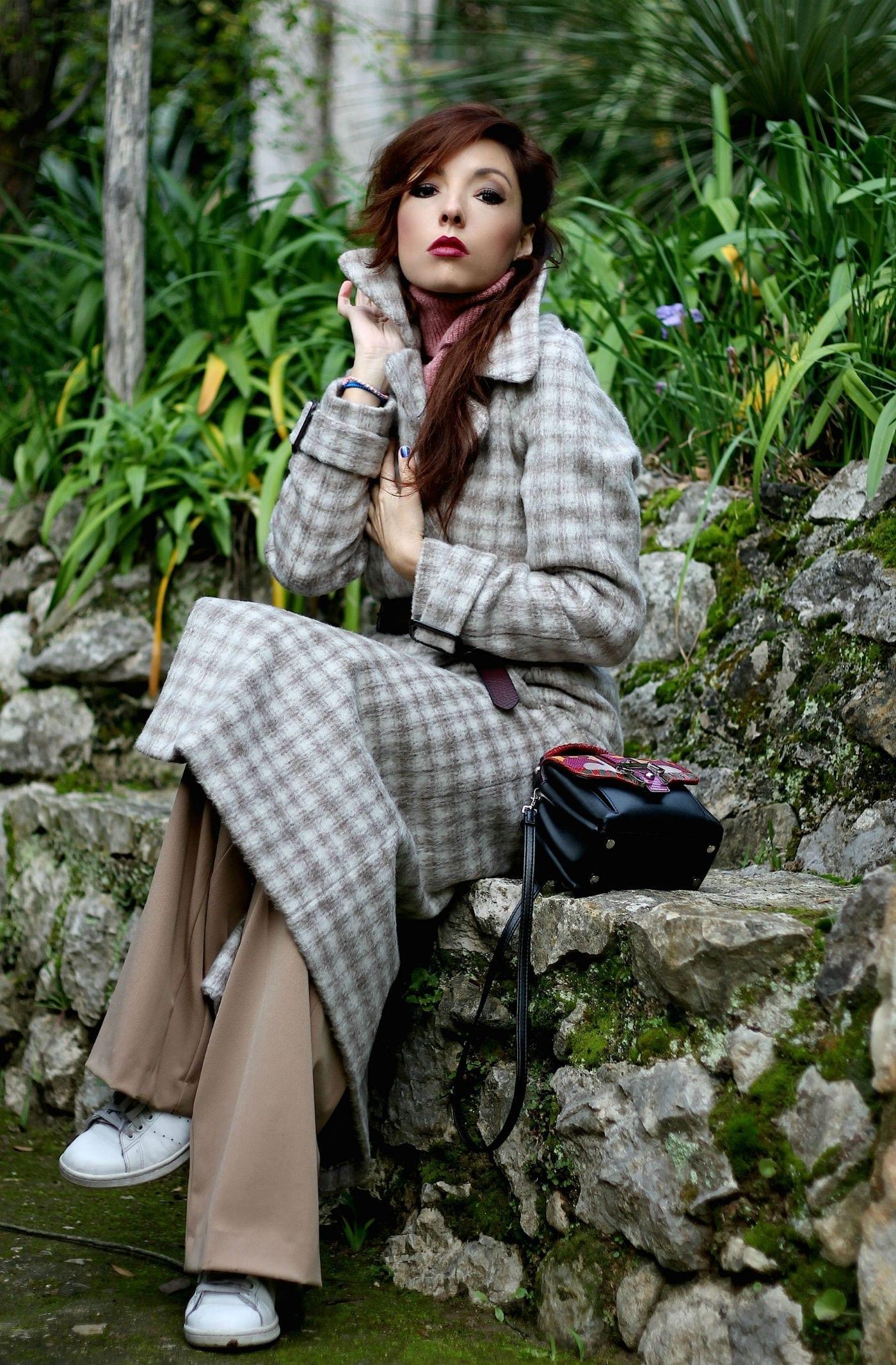theladycracy.it, elisa bellino, c'è bisogno d'innamorarsi, flaneur, fashion blogger italiane famose, essere alla moda in inverno, outfit caldi blogger, parchi botanici menton, outfit invernali blogger