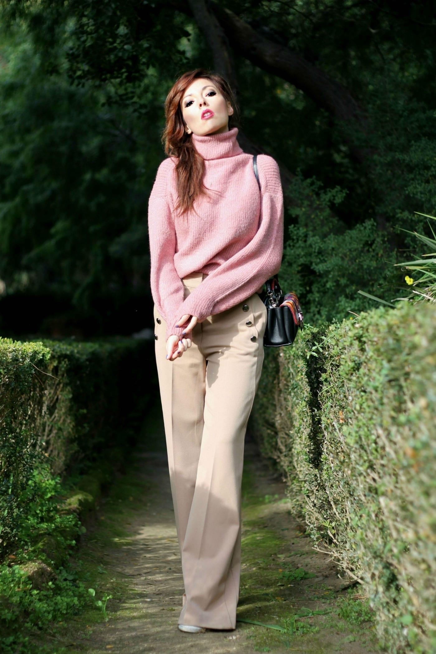 theladycracy.it, elisa bellino, c'è bisogno d'innamorarsi, flaneur, fashion blogger italiane famose, outfit invernali caldi blogger, pantaloni a palazzo come indossarli