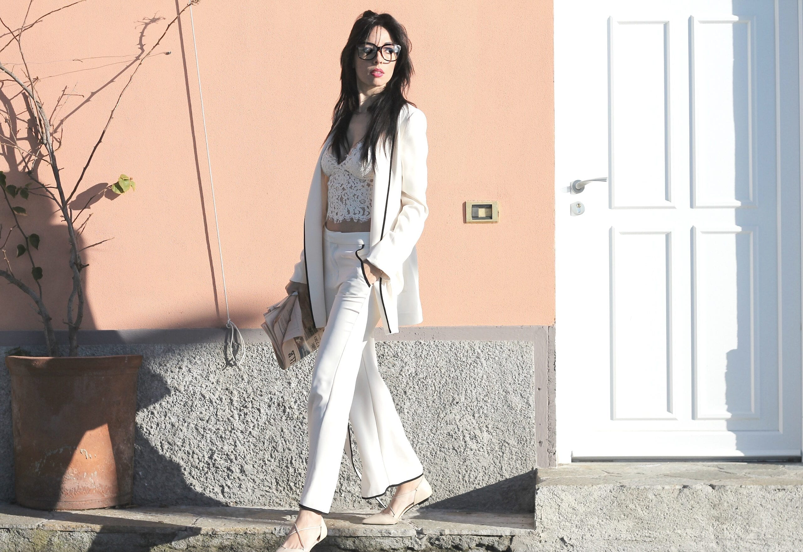 sistema moda in confusione, sistema moda 2016, cosa succede nella moda, pigiama zara, come si indossa il pigiama per uscire, lace top zara, pijama chic zara, theladycracy.it, outfit blogger primavera estate 2016, fashion blog italia, fashion blog, fashion blogger italiane, elisa bellino