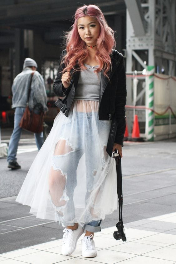 Street Style at Tokyo Fashion Week, theladycray.it, 5 cose da sapere prima di fare shopping, cosa va di moda, cosa mi metto oggi, tendenze moda primavera estate 2016, outfit blogger estate 2016, fashion blog, fashion bloggers italiane, fashion blogger italiane, fashion blogger look, elisa bellino, tulle outfit, tulle sui jeans