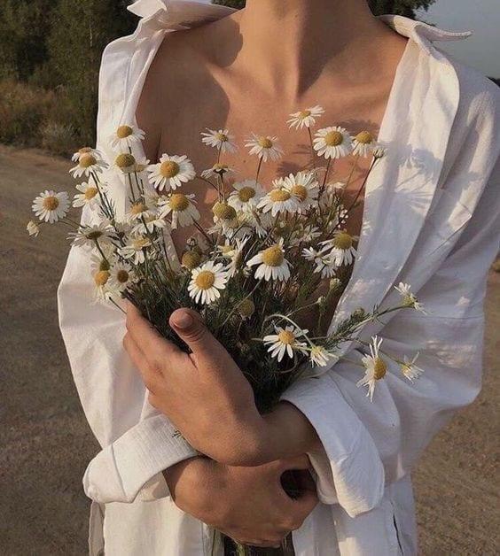 pose foto con i fiori