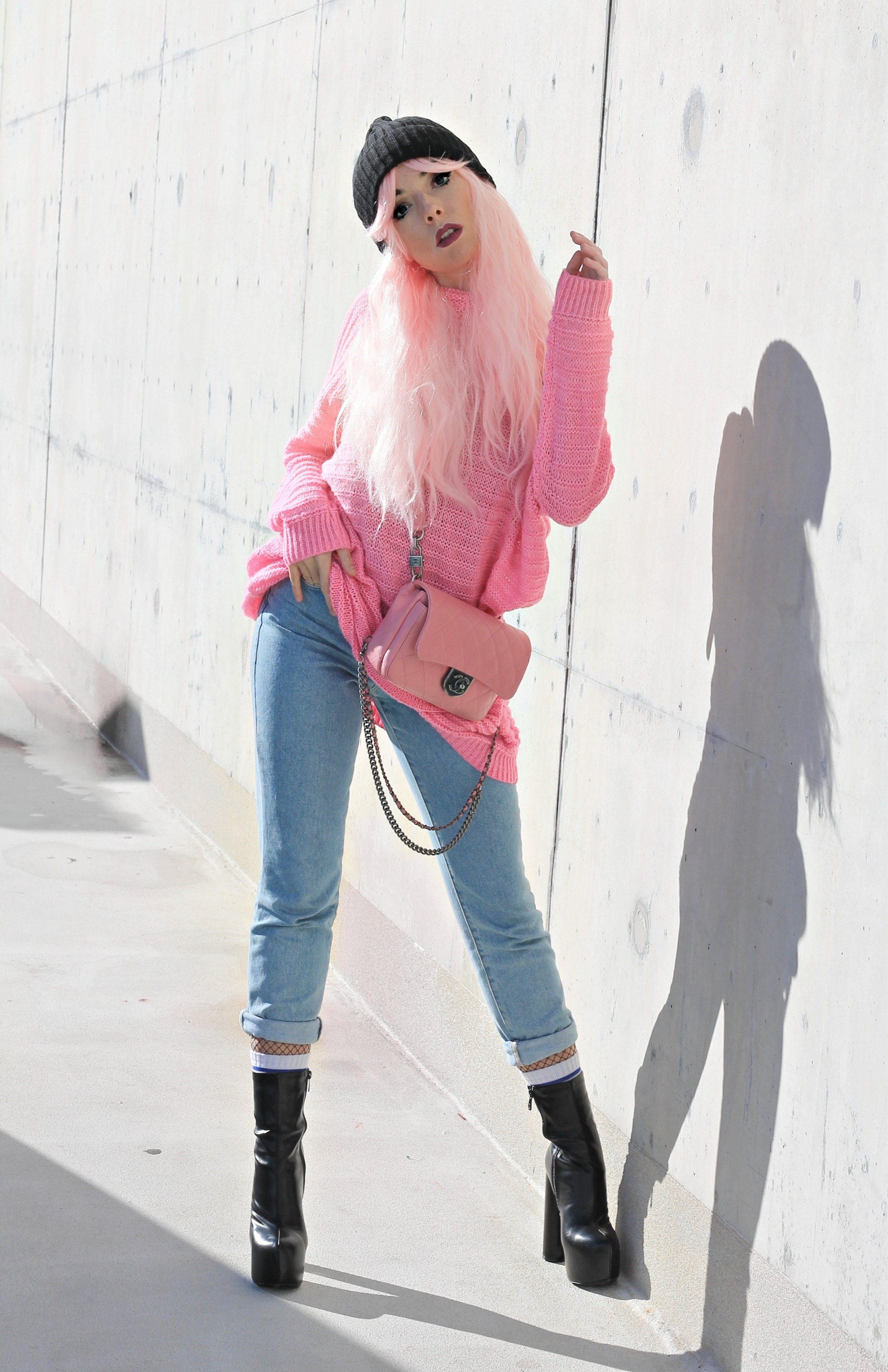 unicorni rosa, theladycracy.it, generazione y, elisa bellino, pink chanel bag, borsa chanel rosa, capelli rosa blogger, parrucche rosa, pink hair blogger, pink look 2017, blogger moda 2017, fashion blogger italia 2017, fashion blogger milano 2017, fashion blogger più seguite 2017, fashion blogger famose 2017, stivaletti plateau, unicorni mania,