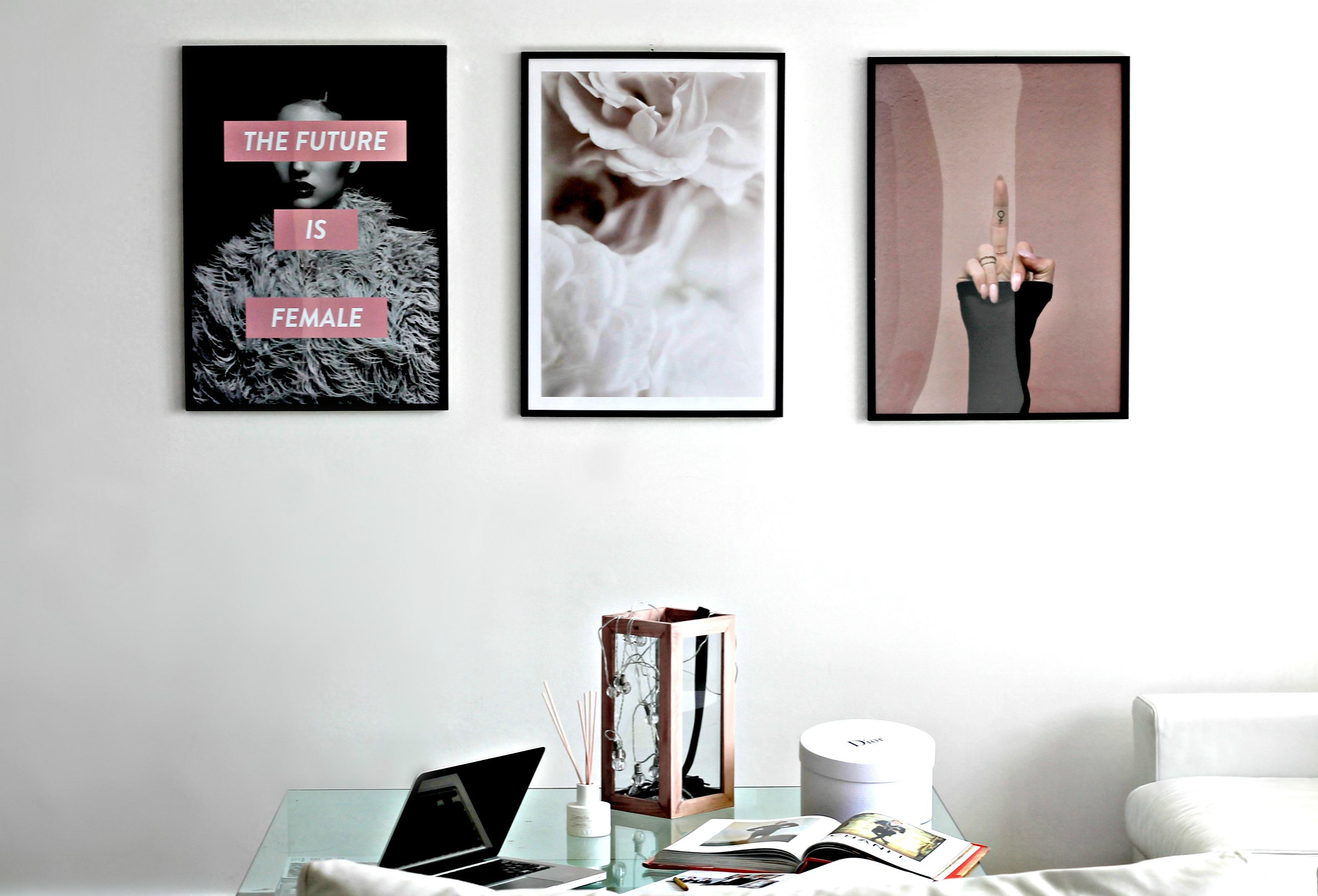 Credenza Da Parete : Poster da parete per un ambiente in stile nordico e chic