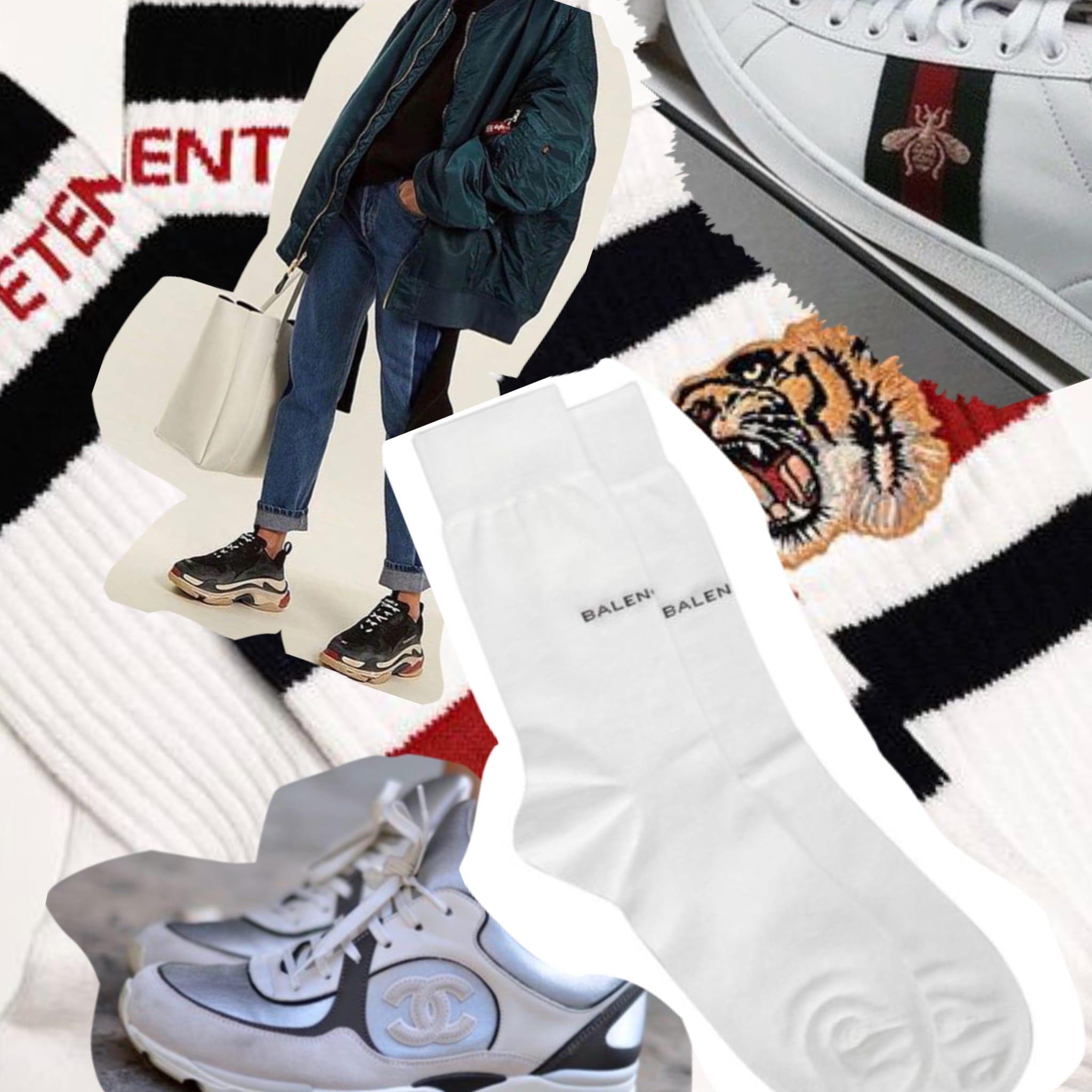 cosa si vende di più nella moda di lusso 2017, cosa si vende di più moda, calzini vetements, scarpe ginnastica gucci, sneaker chanel