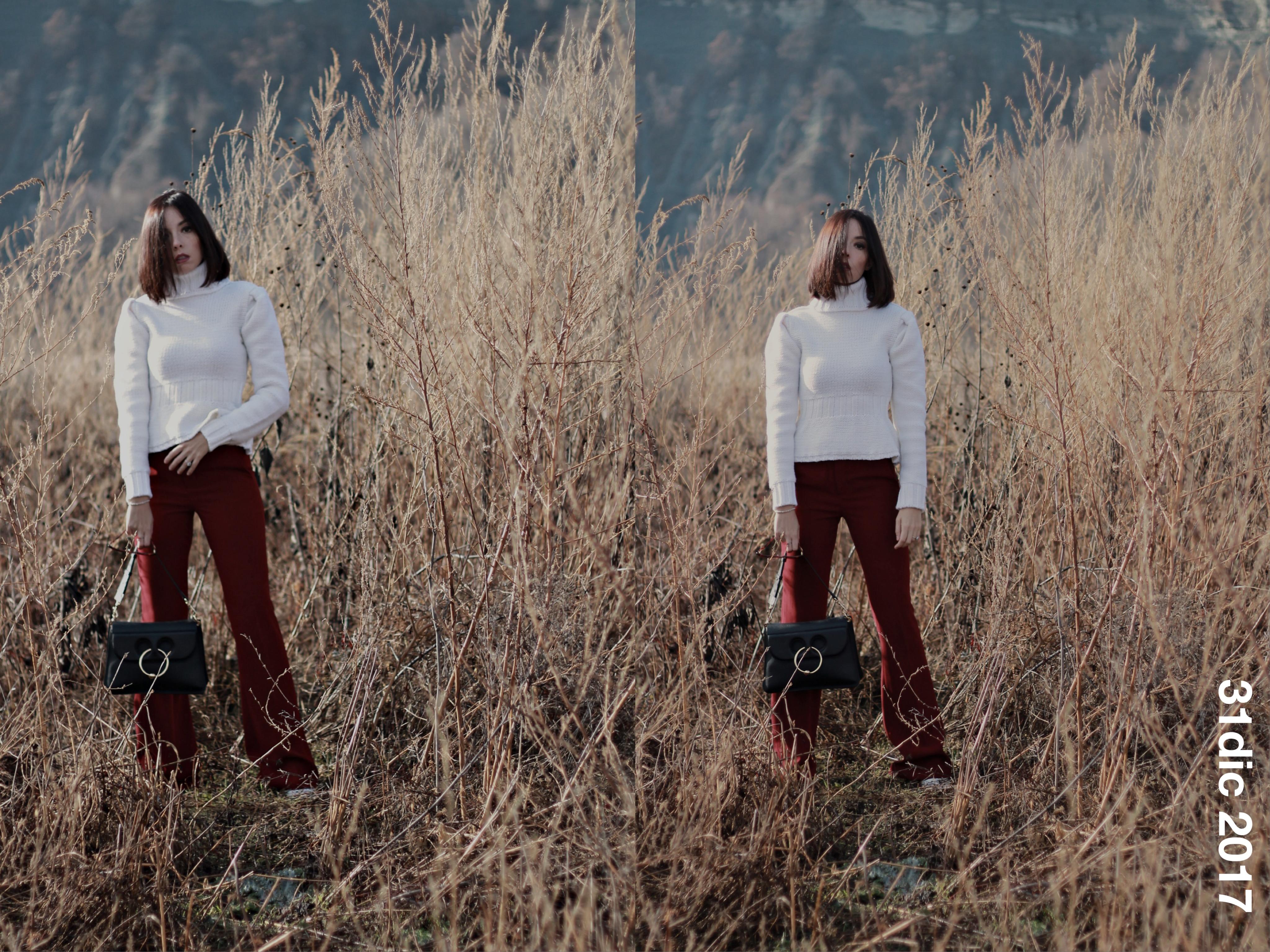Tendenze 2018 moda, j w anderson pierce bag, come vestirsi in inverno 2018, outfit lavoro inverno 2018, outfit casual chic inverno 2018, come vestirsi quando si gela, sostenibilità moda 2018, moda e spiritualità 2018, elisa bellino, fashion blogger famose 2018, blogger moda più seguite instagram 2018, blogger moda 2018,