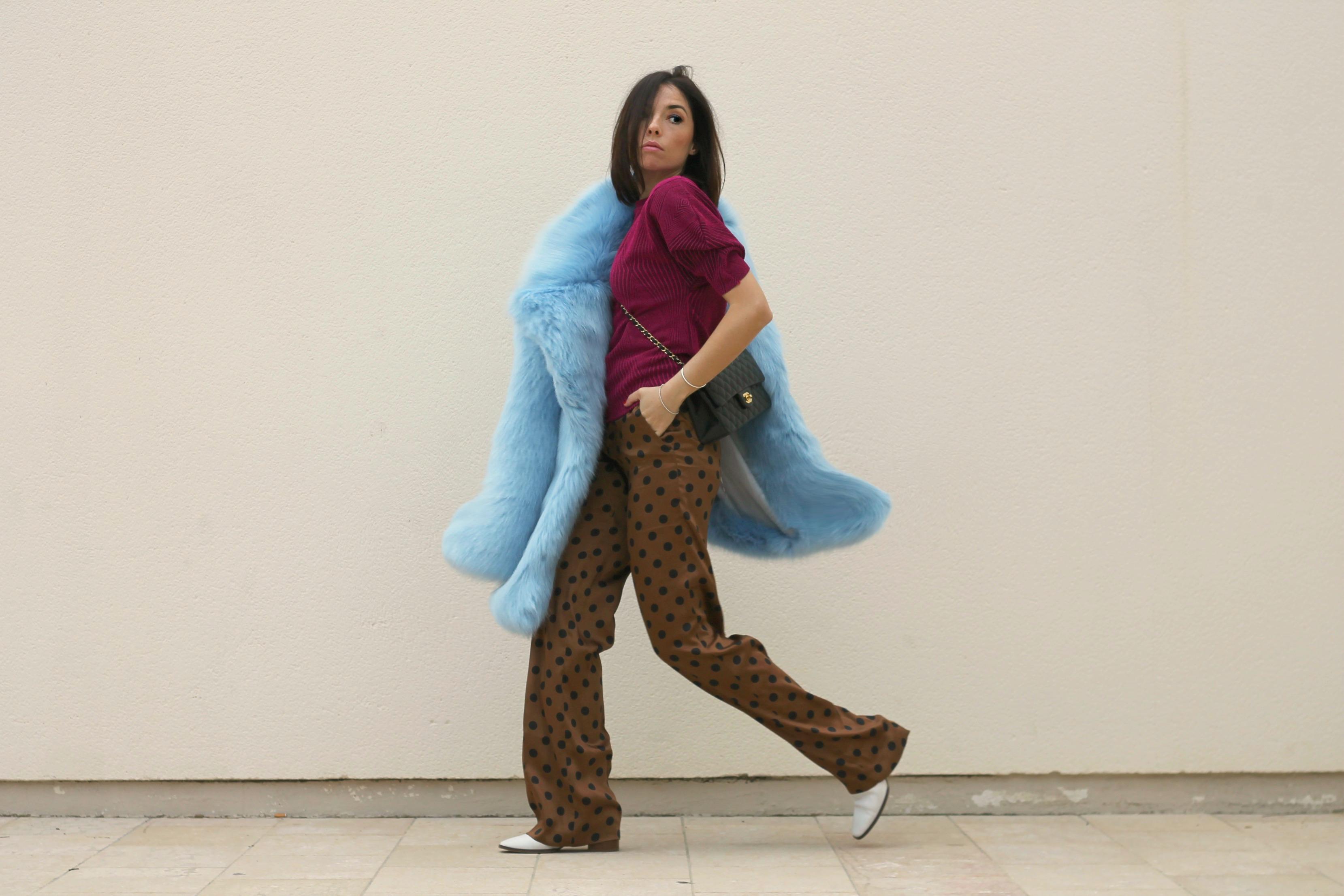 lotta volkova, lotta volkova stylist, lotta volkova editorial, fashion editorial lotta volkova, elisa bellino, blogger moda italia, pantaloni pois, come abbinare pantaloni a pois, theladycracy.it,