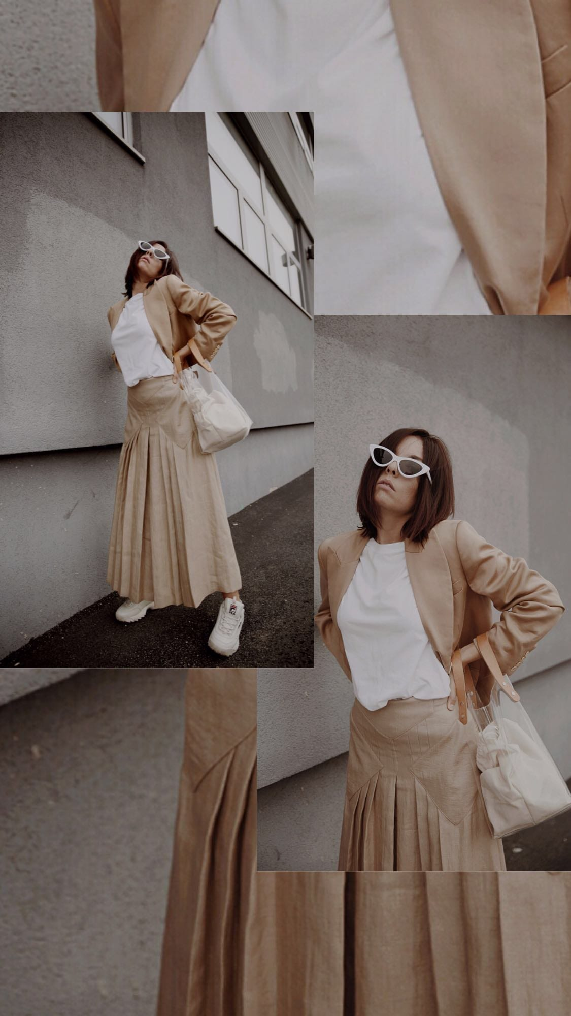 Streetwear culture, theladycracy.it, massimo dutti outfit 2018, fila scarpe outfit 2018, outfit estate 2018, minimal blogger 2018, beige aesthetic, fashion editorial blog 2018, elisa bellino, come vestirsi milano 2018, stile minimal come vestirsi, borsa plastica 2018