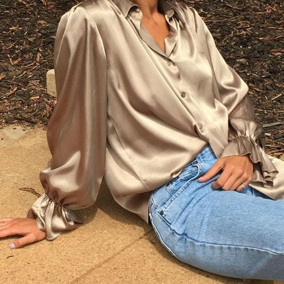 Outfit autunno 2018, tendenze moda autunno 2018, silky dress, colori autunno 2018, camicia seta 2018