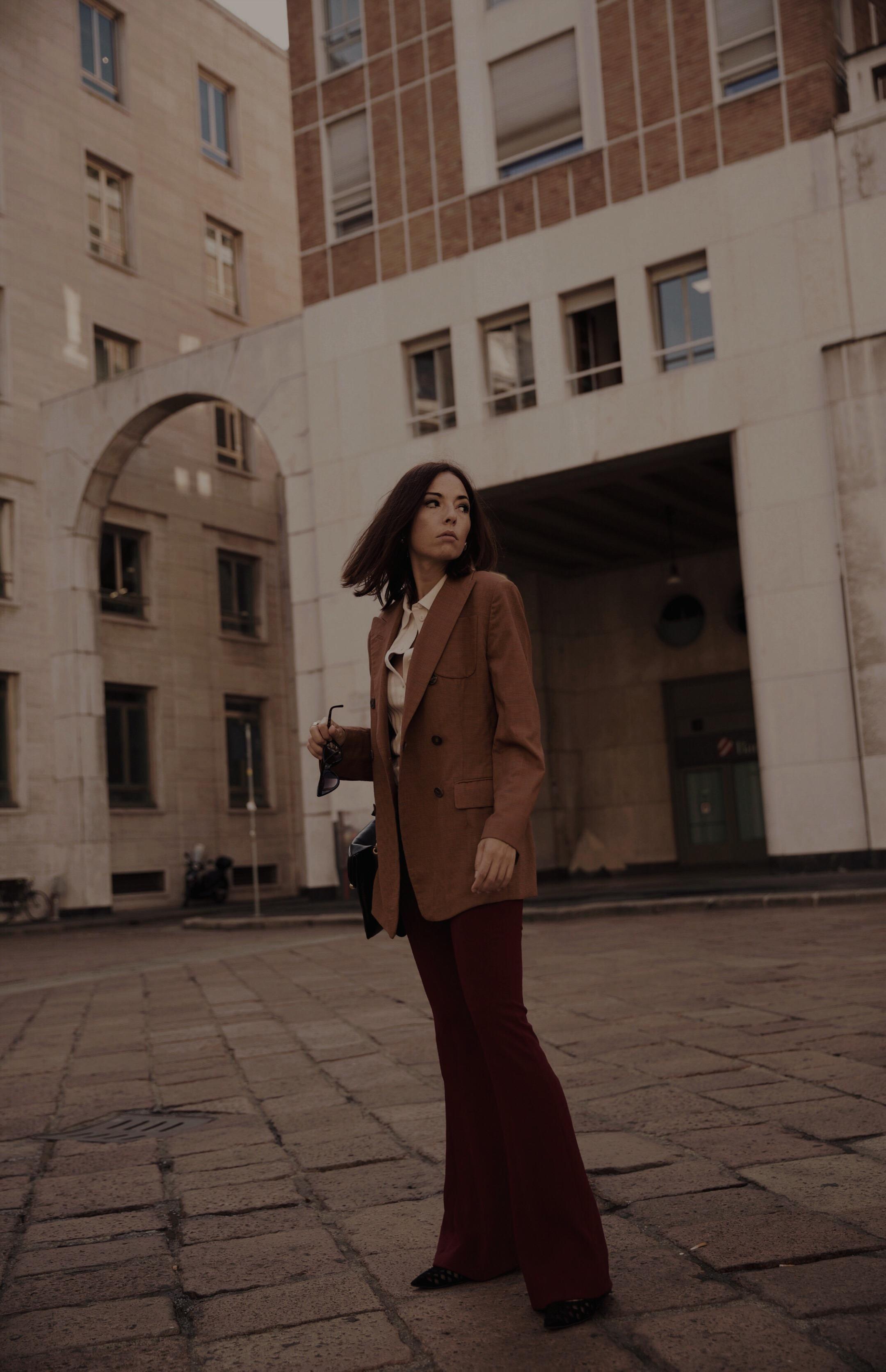 elisa bellino, come vestirsi autunno 2018, fashion blogger italia 2019, jil sander blazer, streetstyle milano settembre 2018, jw anderson bag pierce