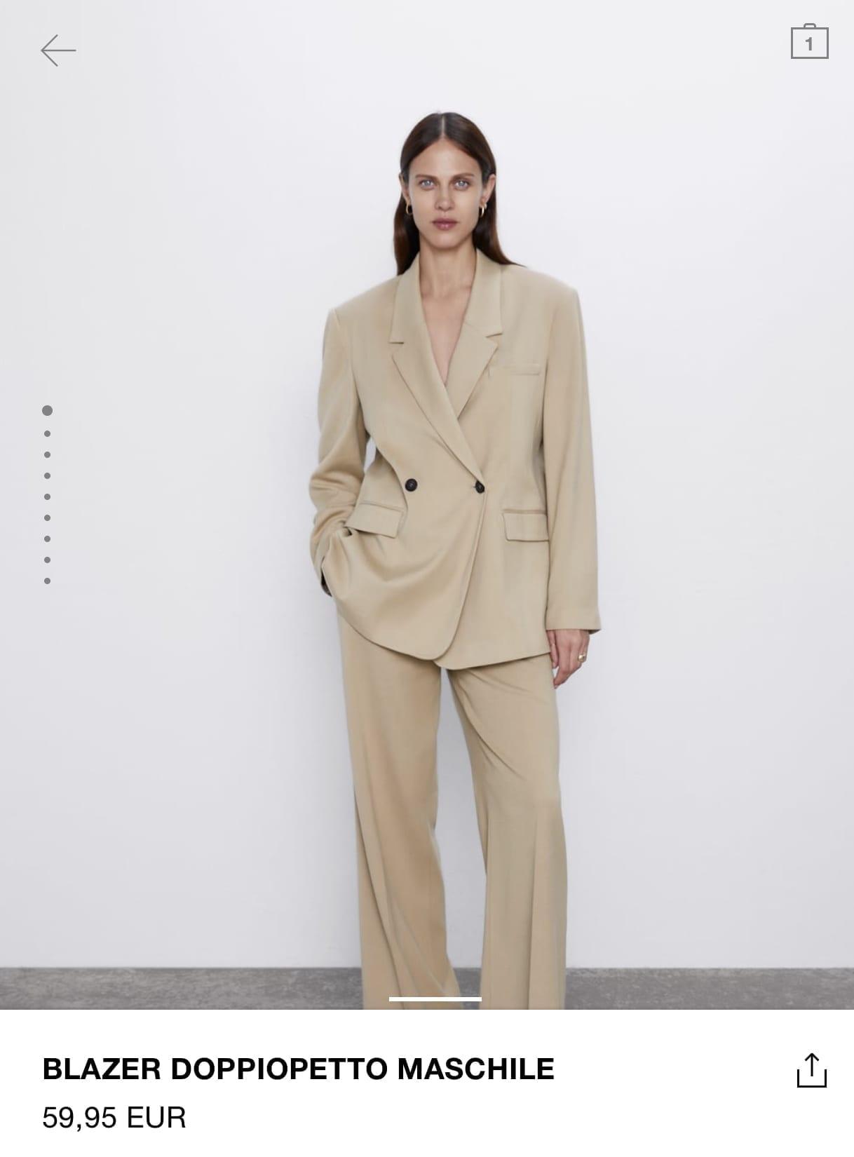 cosa comprare da zara autunno 2019, giacca beige zara 2019, come vestirsi minimal chic