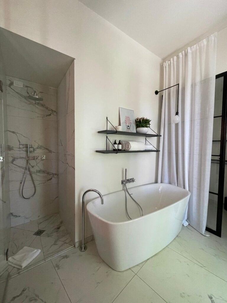 bagno moderno stile minimal cà bèla